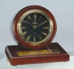 American Walnut Finish Round Clock Achievement Awards