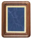 Walnut Plaque with Blue Marble Plate Achievement Awards