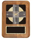 American Walnut Wall Clock with Black & Gold Crackle Face Achievement Awards