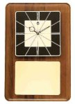 American Walnut Wall Clock with Black & Gold Face Achievement Awards