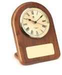 American Walnut Arch Clock Boss Gift Awards
