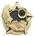 Cross Country Super Star Medal Gold Cross Country Trophy Awards