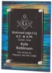 Painted Acrylic Stand-Off Plaque Award Employee Awards