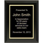 Ultra Gloss Black Plaque Employee Awards