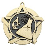 Science Super Star Medal  Gold Scholastic Trophy Awards
