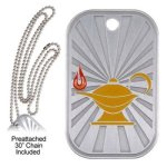 Lamp Dog Tag Scholastic Trophy Awards