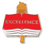 Excellence Lapel Pin Scholastic Trophy Awards