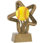 Softball Stars & Stripes Softball Trophy Awards